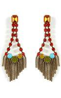 Dannijo Oxidized Brass Plated Maryna Earrings - Lyst