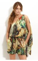 Robert Rodriguez One Shoulder Printed Silk Jumpsuit - Lyst