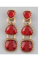 Oscar de la Renta Tiered Earrings - Lyst