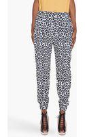 3.1 Phillip Lim Silk Leopard Print Pants - Lyst