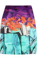Mary Katrantzou Printed Silk-satin Skirt - Lyst