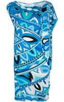 Emilio Pucci Capped Sleeve Dress - Lyst