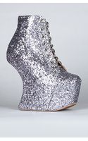 Jeffrey Campbell The Night Lita Shoe in Pewter Glitter (exclusive) - Lyst