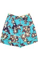 Karen Walker Cuff Shorts - Lyst