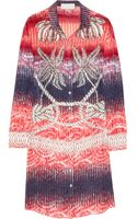 Peter Pilotto Rope-Print Silk Shirt Dress - Lyst
