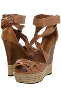 Burberry Aumale Rope Wedge Sandals - Lyst