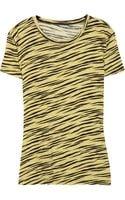 Proenza Schouler Zebra-print Cotton T-shirt - Lyst