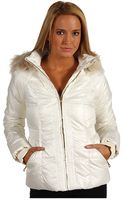 Juicy Couture Shimmer Puffer Jacket - Lyst