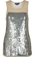 Gryphon Sequin Sleeveless Top - Lyst