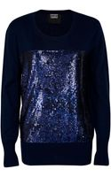 Markus Lupfer Liquid Sequin Nat Jumper - Lyst