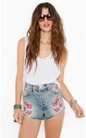 Nasty Gal Blooming Cutoff Shorts - Lyst