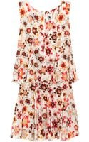 M Missoni Floral-print Silk Dress - Lyst