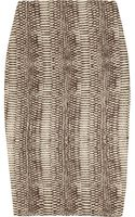 Lanvin Snakeskin-knit Silk-blend Pencil Skirt - Lyst