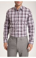 Calibrate Trim Fit Plaid Sport Shirt - Lyst