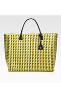 Tory Burch Large Straw & Leather Tote Bag - Lyst