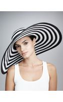 Eric Javits Striped Wide-brim Hat - Lyst