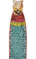 Mary Katrantzou Harp Hazzard Printed Silk-twill Dress - Lyst