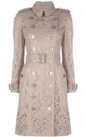 Burberry Lace Trench Coat - Lyst