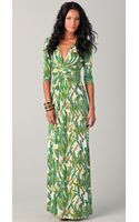 Issa V-Neck Long Dress - Lyst