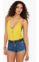 Nasty Gal Button Up Tank Chartreuse - Lyst