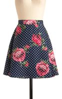 ModCloth Floral Aura Skirt in Navy - Lyst