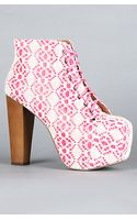 Jeffrey Campbell The Lita Shoe in Fuchsia and Ivory Macrame - Lyst