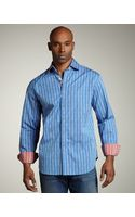 Robert Graham Jacquard Stripe Sport Shirt - Lyst