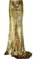 Balmain Sequined Silk Maxi Skirt - Lyst
