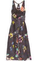 Rebecca Taylor Printed Silk Blend Dress - Lyst