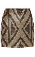 Haute Hippie Sequin Mini Skirt - Lyst