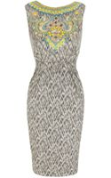 Matthew Williamson Baby Ikat Shift Dress Fully Beaded - Lyst