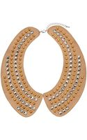 Topshop Studded Peter Pan Necklace - Lyst