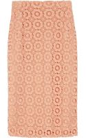 Dolce & Gabbana Macramé Lace Pencil Skirt - Lyst