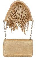 Christian Louboutin Artemis Fringe Textured Leather Shoulder - Lyst