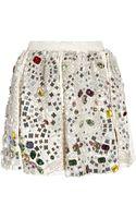 Dolce & Gabbana Crystal Embellished Jacquard Skirt - Lyst