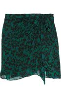 Vanessa Bruno Printed Silk Jacquard Mini Skirt - Lyst