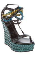 Burberry Prorsum Wedge Sandal - Lyst