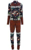 Jean Paul Gaultier Printed Jumpsuit - Lyst