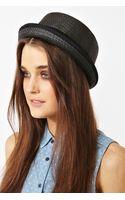 Nasty Gal Hampton Straw Hat Black - Lyst
