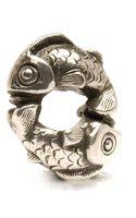Trollbeads Happy Fish Silver Charm Bead - Lyst