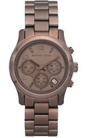 Michael Kors Womens Chronograph Bronze Tone Stainless Steel Bracelet 39mm - Lyst