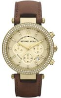 Michael Kors Chronograph Chocolate Brown Leather Strap 39mm - Lyst