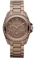Michael Kors Chronograph Espresso Tone Stainless Steel Bracelet 33mm - Lyst