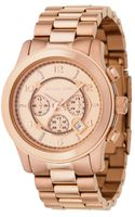 Michael Kors Mens Rose Gold Plated Stainless Steel Bracelet 46mm - Lyst