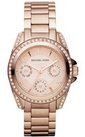 Michael Kors Womens Chronograph Rose Gold Tone Stainless Steel Bracelet 33mm - Lyst