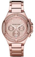 Michael Kors Chronograph Rose Gold Tone Stainless Steel Bracelet  - Lyst