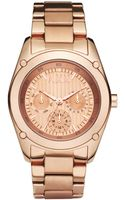Hue Womens Chronograph Rose Gold Ion Plated Stainless Steel Bracelet 40mm - Lyst