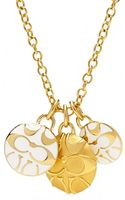Eci Coach Miranda Triple Disc Necklace - Lyst