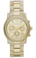 Michael Kors  Horn Acetate and Gold Tone Stainless Steel Bracelet 40mm - Lyst