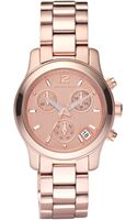 Michael Kors Round Watch Rose Gold - Lyst